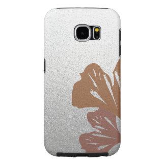 Hojas de bronce del Ginkgo en el modelo de plata Funda Samsung Galaxy S6