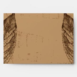 hojas de Brown de la opción 3 del sobre 5x7