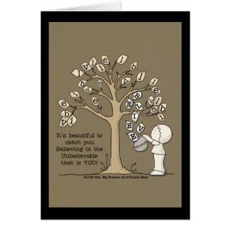 hojas de cogida del Be'LEAVES'- Tarjeta De Felicitación