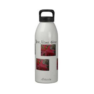 Hojas de color rojo oscuro Personalizable Botellas De Beber
