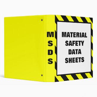 Hojas de datos materiales de la seguridad