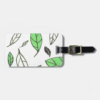 Hojas de deslizamiento blancas/verde/negro etiquetas para maletas