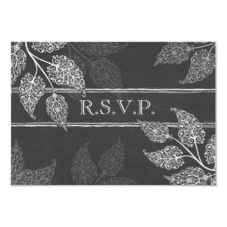 Hojas de encaje que casan la tarjeta de RSVP Invitación 8,9 X 12,7 Cm