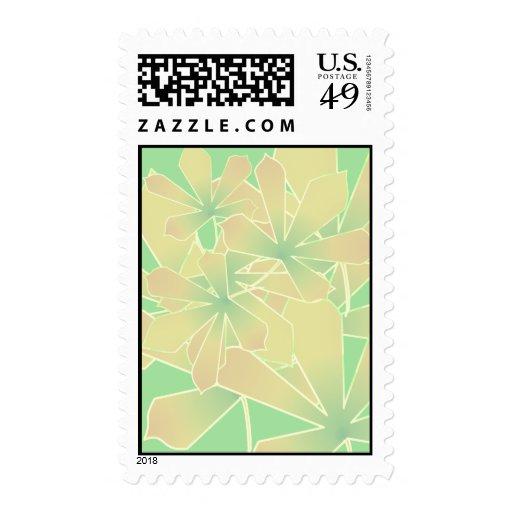 hojas de la acción de gracias sellos postales