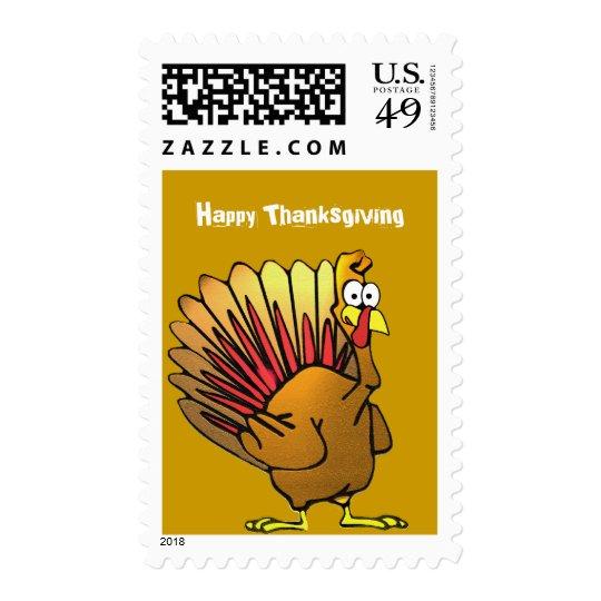Hojas de la acción de gracias y franqueo lindo de sellos