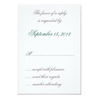 Hojas de la aguamarina de William Morris que casan Invitaciones Personales