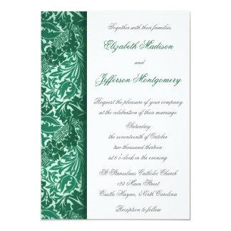 Hojas de la aguamarina de William Morris que casan Comunicados Personales