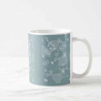 Hojas de la buena suerte taza