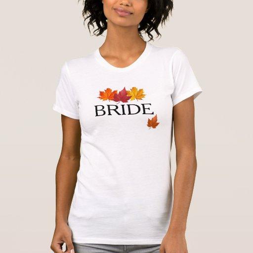 Hojas de la caída - camisa de la novia del otoño