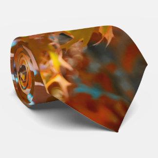 Hojas de la caída corbata personalizada