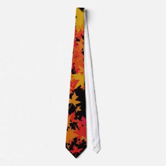 Hojas de la caída corbatas