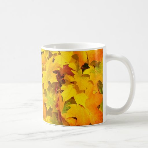 Hojas de la caída del otoño taza clásica