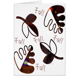 Hojas de la caída tarjeta de felicitación