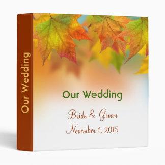Hojas de la carpeta del planeamiento del boda del