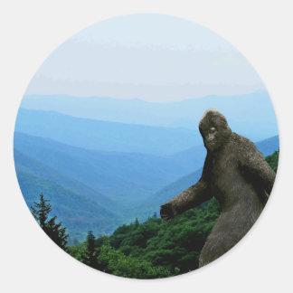 Hojas de la etiqueta o del pegatina de Bigfoot