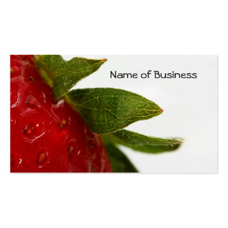 Hojas de la fresa con el nombre comercial tarjetas de visita