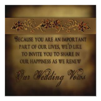 Hojas de la invitación de la renovación del boda