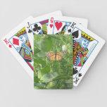 Hojas de la mariposa baraja cartas de poker
