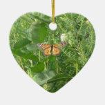 Hojas de la mariposa ornamento para arbol de navidad