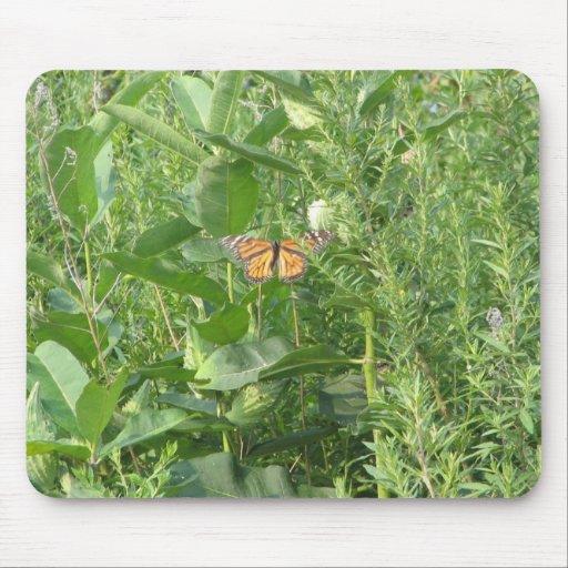 Hojas de la mariposa tapete de raton