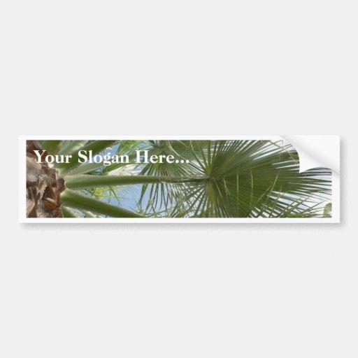 Hojas de la palmera pegatina de parachoque