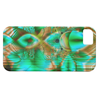 Hojas de la primavera, jardín de flores cristalino iPhone 5 Case-Mate carcasas