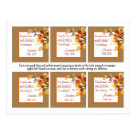 Hojas de la rama del otoño de las etiquetas del fa tarjeta postal