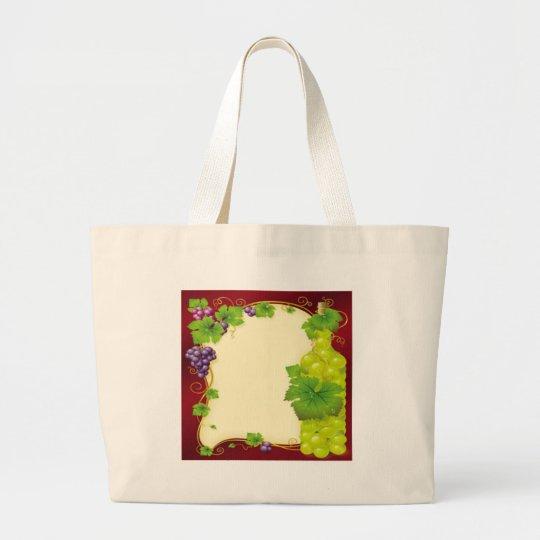 Hojas de la uva bolsa de tela grande