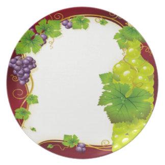 Hojas de la uva plato de cena