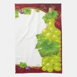 Hojas de la uva toallas