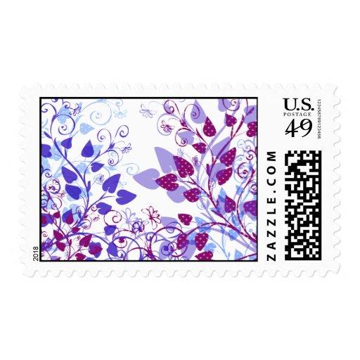 Hojas de la violeta de la primavera sellos