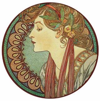 Hojas de las tejas de mosaico de señora Green del  Fotoescultura Vertical