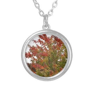 Hojas de los árboles del otoño de la foto de color colgantes personalizados