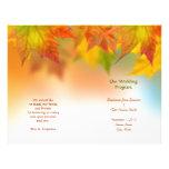 Hojas de los aviadores del programa del boda del o tarjetas informativas