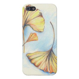 Hojas de oro del Ginkgo del otoño iPhone 5 Carcasas