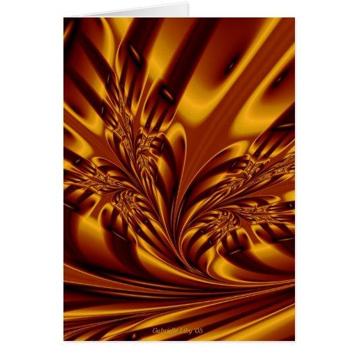 Hojas de oro tarjeta de felicitación