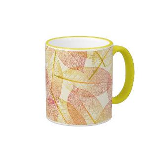 Hojas de otoño 2 taza de dos colores