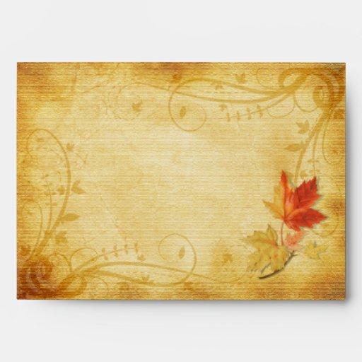 Hojas de otoño adaptables que casan el sobre A-7