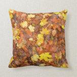 Hojas de otoño almohadas
