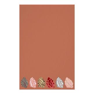 Hojas de otoño artísticas papelería personalizada