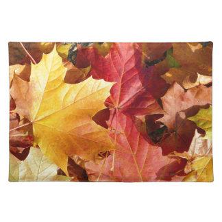 ¡Hojas de otoño - atontando! Mantel Individual