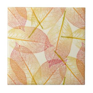 Hojas de otoño azulejo cuadrado pequeño
