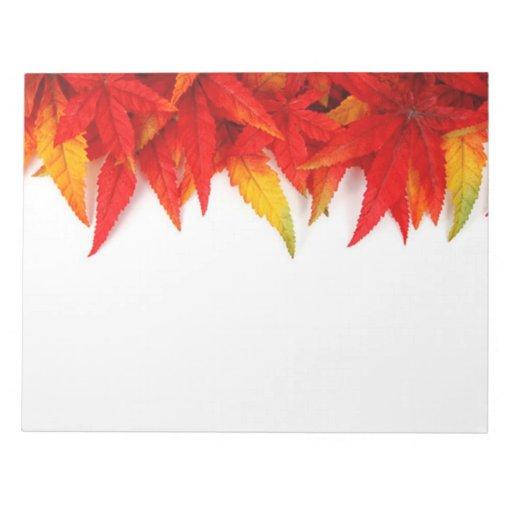 Hojas de otoño blocs de papel