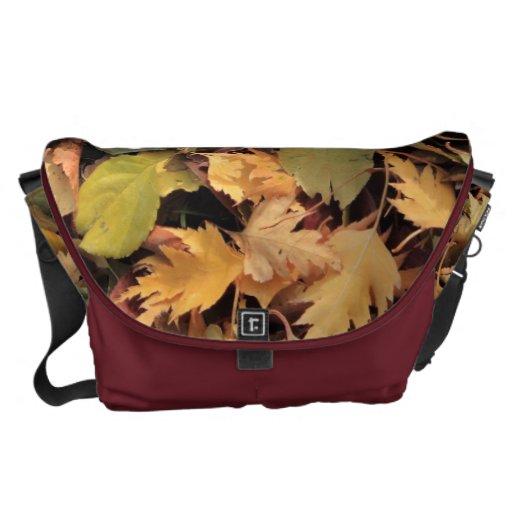 Hojas de otoño bolsa de mensajeria