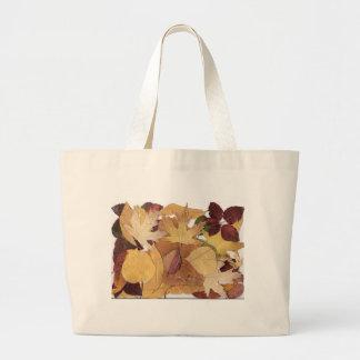 Hojas de otoño bolsas de mano