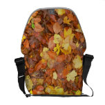Hojas de otoño bolsas de mensajeria