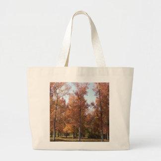 Hojas de otoño bolsa tela grande