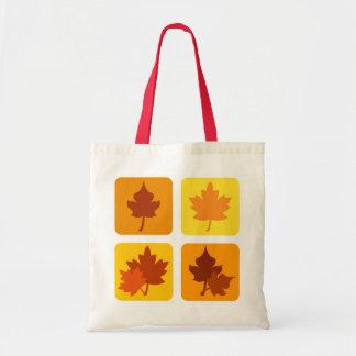 Hojas de otoño - bolso bolsa tela barata