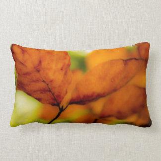 Hojas de otoño almohada