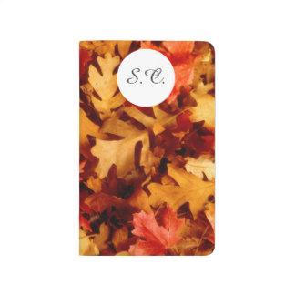 Hojas de otoño - color de la caída cuaderno